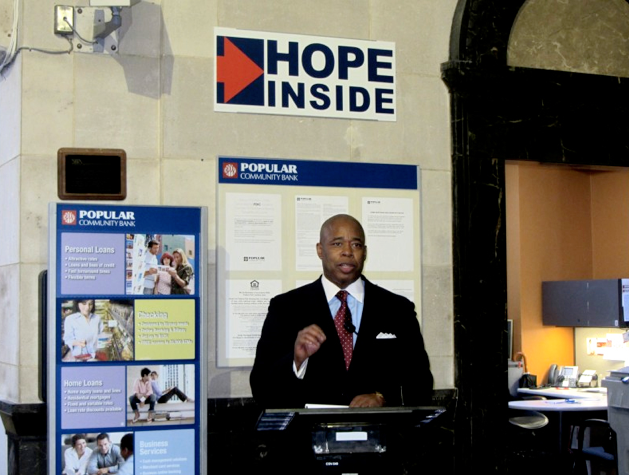 """Brooklyn Borough President Eric L. Adams (pictured below) praised efforts to help build local businesses says not just about education, but building """"Hope Inside"""" each and every individual to achieve quality of life."""